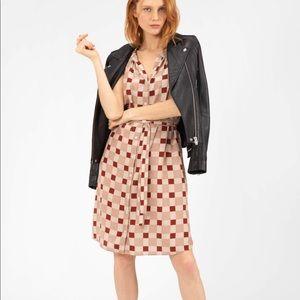 NEW • Tucker • Flutter Sleeves Mini Dress Plaid M